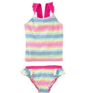 OshKosh Ruffled Stripe Swimsuit