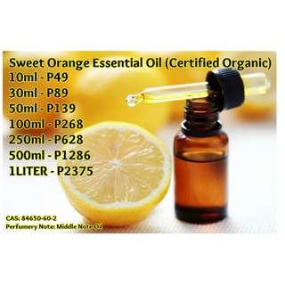 Sweet Orange Essential Oil (Certified Organic)