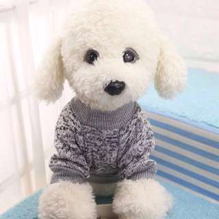 Korean Pet Apparel Warm Sweater Wool Blend Coat Puppy Jacket