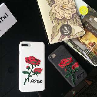 Cross Stitch Rose Iphone 6/6s/6+/7/7+/8/8+ Mobile Casing