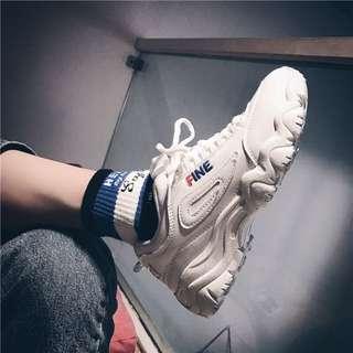 極好穿❤️ ins超火的鞋子運動鞋女韓版ulzzang原宿百搭厚底zipper泫雅同款鞋