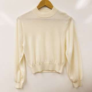 Opening Ceremony cream white knitted top size S