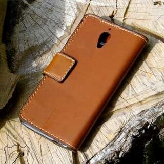 小米1 皮革手機套 手機殼 銀包 手作 M1 leather phone case cover wallet DIY