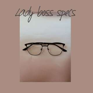 Lady Boss Specs/ Glasses