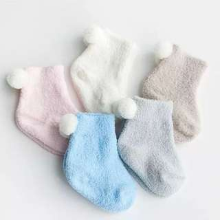 3 pairs pack baby socks ( soft pink,soft brown,off white)