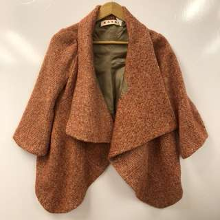 Marni red with orange and beige jacket size 42
