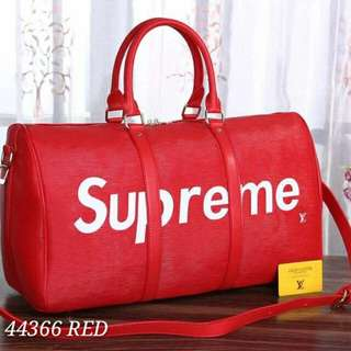 Louis Vuitton Red Supreme Travel Bag