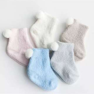 3 pairs pack baby socks ( light blue, light grey, off white)