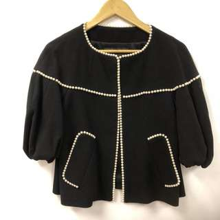 Andrew GN black with pearls jacket size 34