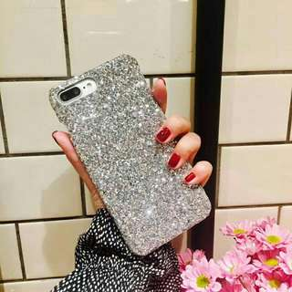 SHIMMERING POWDER CASE for iPhone 5, 5s, SE, 6, 6s, 6+, 6s+, 7, 7+, 8, 8+, x