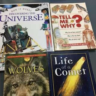 Non fiction educational  books x 4