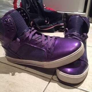 Supra Purple Hi Tops