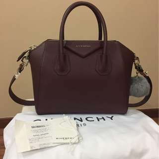[FULL SET WITH RECEIPT] Givenchy Antigona Small in Oxblood