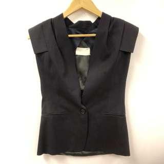 MMM black vest cardigan size 38