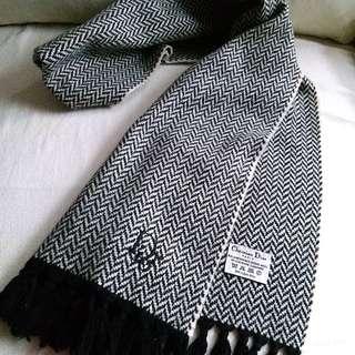 (超長!柔軟)10%Cashmere Christian Dior Vintage Scarf 圍巾 頸巾