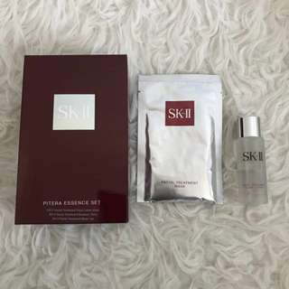 SKII facial treatment mask and facial treatment clear lotion