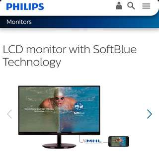"Philips 23"" Monitor LCD Monitor (IPS, HD)"