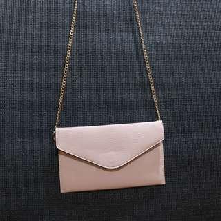 Forever21 Blush pink envelope bag