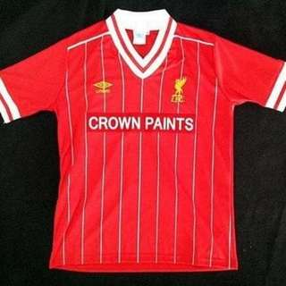 Jersey retro liverpool home 1984 grade aaa