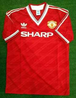 Jersey retro manchester united home 1986 grade aaa