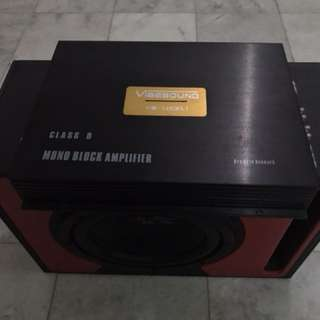 Mono Block Amplifier & sub woofer