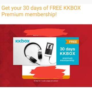 Kkbox 30 days premium membership