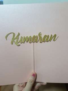 $6 name topper with NM