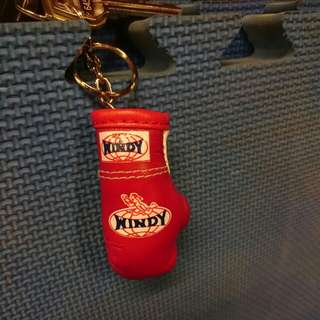Windy mini glove keychain accessory