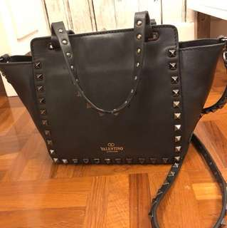 Valentino mini handbag 手袋 真皮 窩釘 stud Balenciaga Handel Prada lv bv