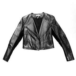 J Brand leather jacket XS lamb leather cropped