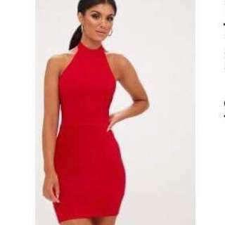 Pretty little thing - red dress size 6-8