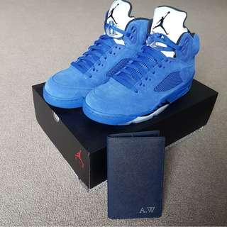 Air Jordan Retro 5 Blue Suede US9