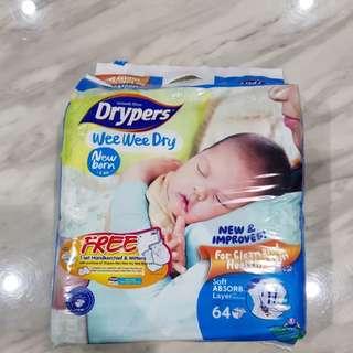 Drypers Newborn 64pcs