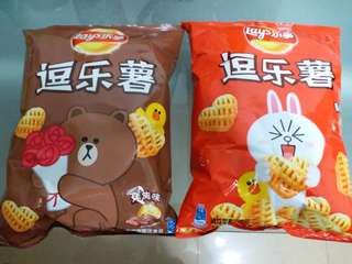Line Friends x Lay's 逗樂薯 x 2 (70g) Brown and Cony