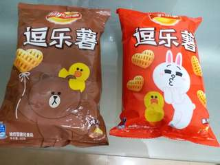 Line Friends x Lay's 逗樂薯 x 2 (40g) Brown and Cony