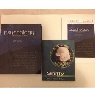 PSY100 Textbook + Concept Chart + Sniffy book (includes CD)