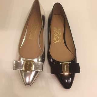 Ferragamo shoes flats vara varina
