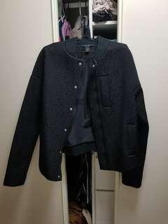 Ksubi black oversized bomber jacket