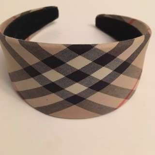 Authentic Burberry check wide head band