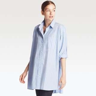 WOMEN Extra Fine Cotton Oversized Long Sleeve Long Shirt