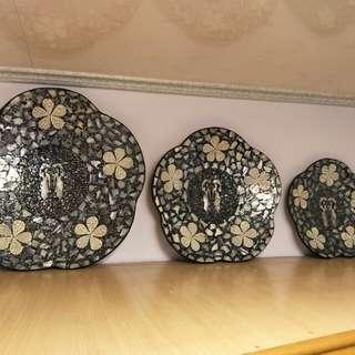 🚚 藝術裝飾盤(三個一組)