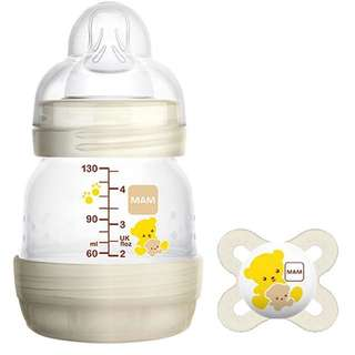 NEW MAM Anti Colic Self Sterilising Bottle FREE Soother
