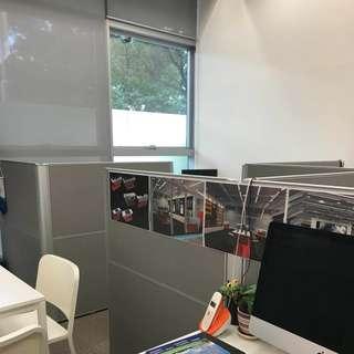 Alum-Frame Office Cubicle Partition