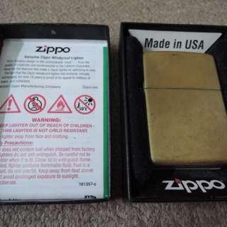 Zippo Broken Brass