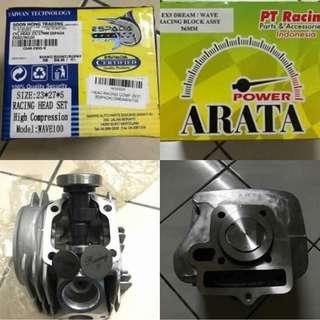 BLOCK ARATA 56MM HEAD ESPADA WAVE 100