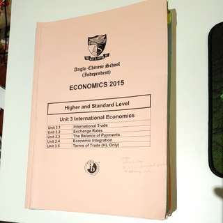 ACSI HL AND SL Economics IB
