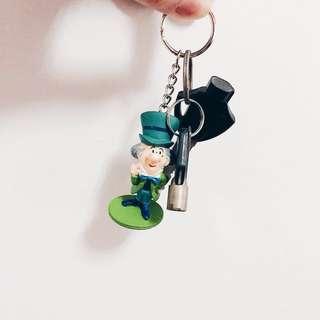 🚚 愛麗絲夢遊仙境 公仔吊飾鑰匙圈 迪士尼