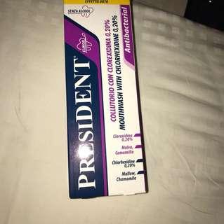 President Mouthwash with Chlorhexidine 0.20%