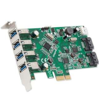 Syba 4 Port USB 3.0 and 2 Port SATA III PCIe 2.0 X 1 Card