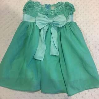 Baby mint green dress